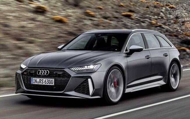 Nova Audi RS6 passa a ser híbrida e a ter visual ainda mais arrojado e indiscreto na linha 2020. Potência  salta para 600 cv