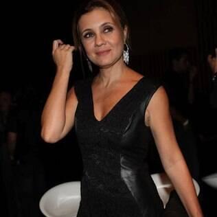 Adriana Esteves na festa da Globo