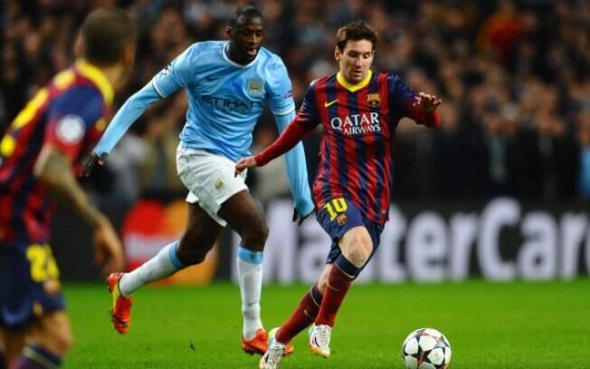 Em 2014, o Barcelona eliminou o Manchester City