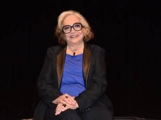 Nathalia Timberg na inauguração do Teatro J. Safra