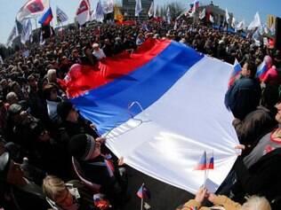 O grupo também anunciou, segundo a Interfax, um referendo para a população decidir se o território será anexado à Rússia antes do dia 11 de maio