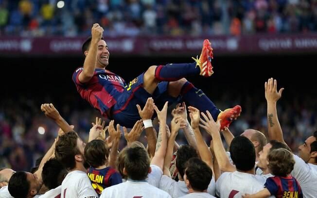 Xavi fez história no Barcelona e é um dos maiores ídolos do futebol espanhol