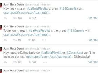 Em seu Twitter, Juan Mata