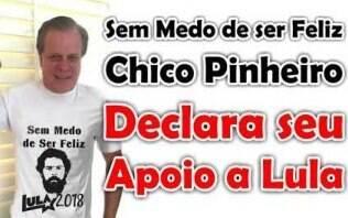 """Chico Pinheiro nega apoio a Lula: """"Esta foto é fake, idiota"""""""