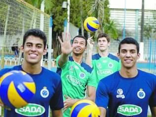 Em alta. Leozinho, Alan, Éder Levi e Kadu, além de Cachopa (que não está na foto), foram convocados para disputar o Sul-Americano