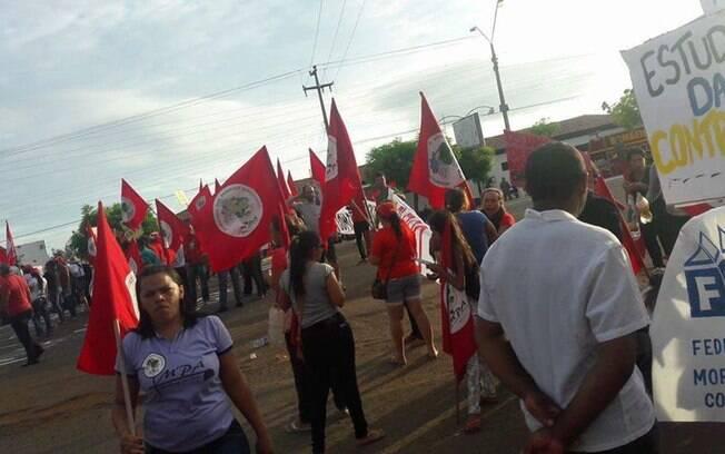 Protestos ocorreram em pelo menos nove Estados. Na foto, manifestação em Alto dos Picos, no Piauí. Foto: Frente Brasil Popular/Divulgação - 10.05.16