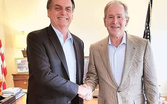 Bolsonaro se encontrou com Bush nessa quarta