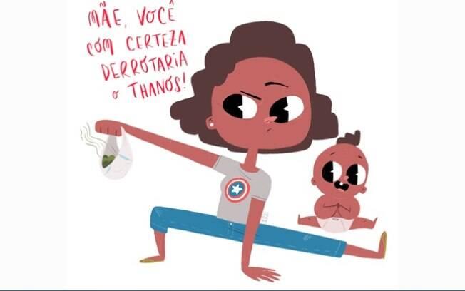Ilustração Telecine em homenagem às mães