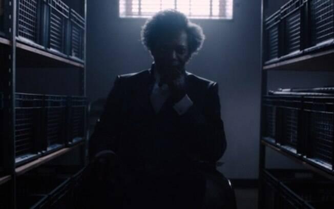 Samuel L. Jackson em cena de Vidro: a mente brilhante por trás de um plano vilanesco