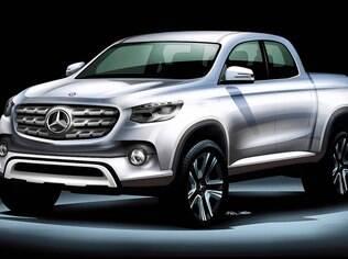 Esboço oficial revela como deverá ficar a nova picape da Mercedes