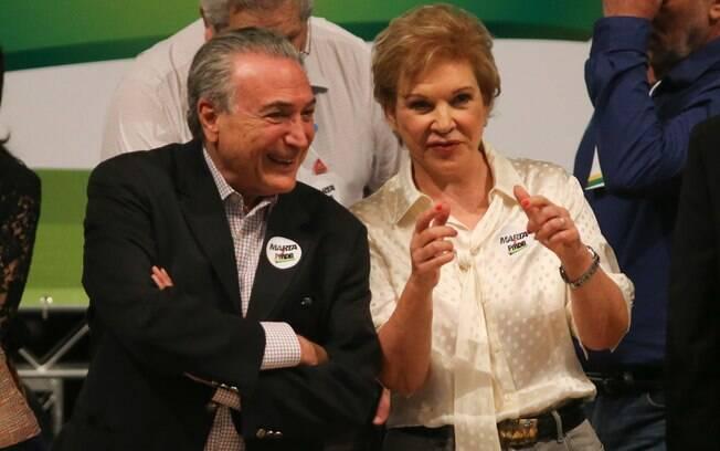 Marta e o vice-presidente durante a filiação: