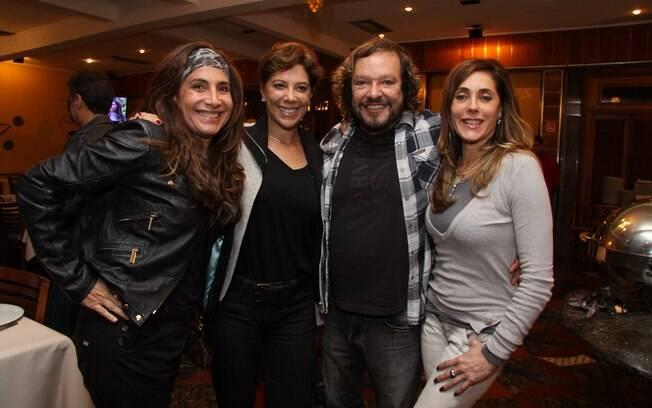 Totia Meirelles, Angela Vieira, Wolf Maya e Christiane Torloni