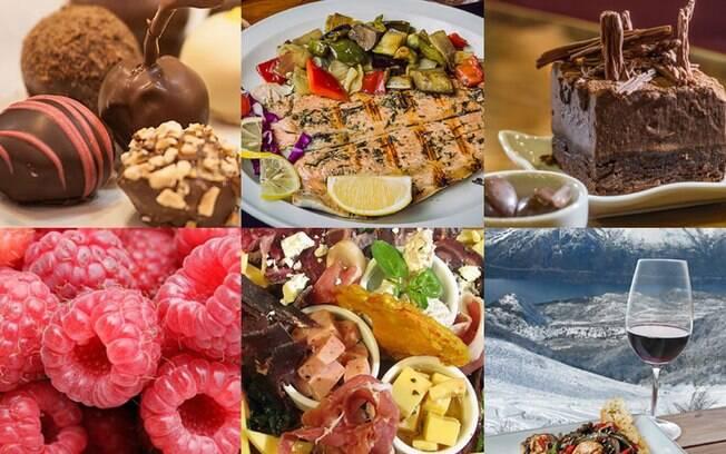 A gastronomia de Bariloche envolve chocolate, cerveja e comidas típicas como cordeiro e truta