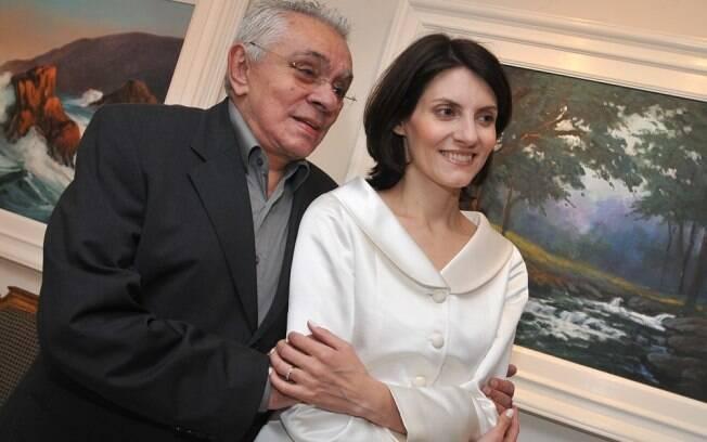 Chico Anysio com Malga de Paula