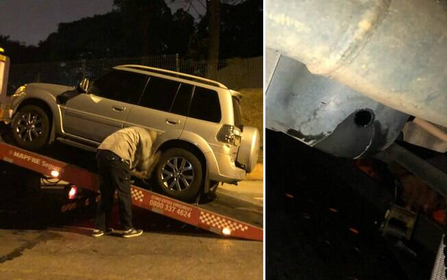 Carro do fotógrafo Fabio Piva foi guinchado após ladrões furarem o tanque do veículo para roubar gasolina
