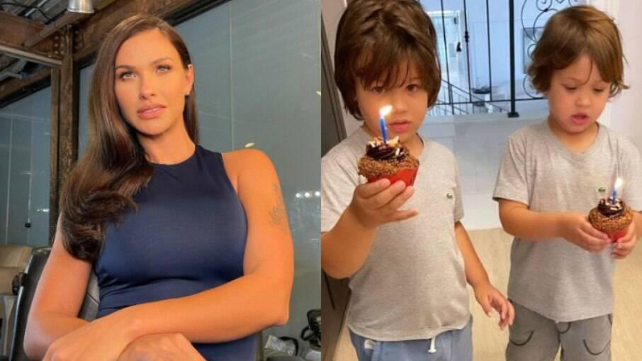 Andressa Suita mostra surpresa de aniversário dos filhos para Gusttavo Lima