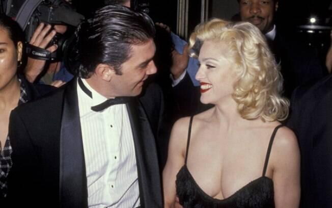 Madonna e Antonio Banderas em 1991