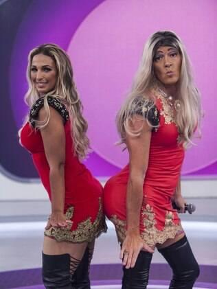 Rodrigo Faro se transforma em Valesca Popozuda e imita a cantora de funk em 'O Melhor do Brasil'.