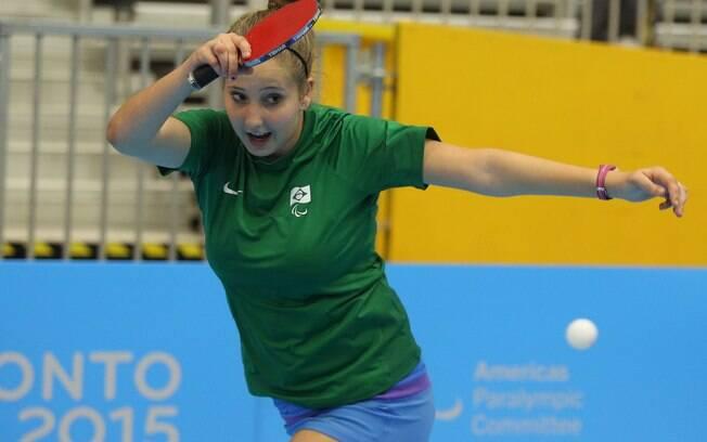 Danielle Rauen, de apenas 17 anos, ganhou o ouro em Toronto pela Classe 9/10.