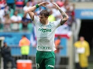 Roger Guedes marcou um dos gols do Palmeiras