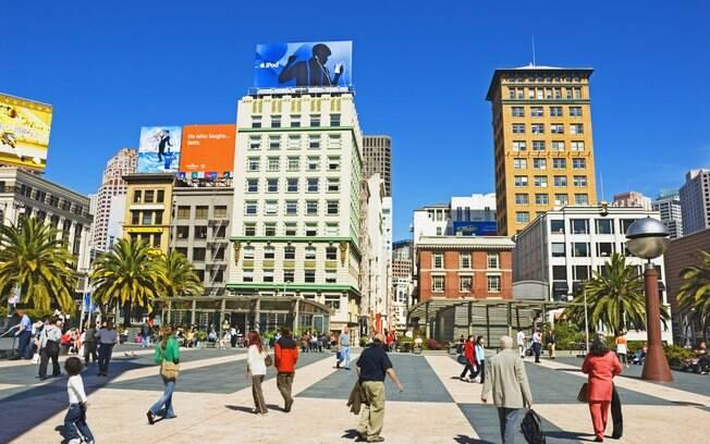 Union Square é um dos pontos frequentados pelos turistas