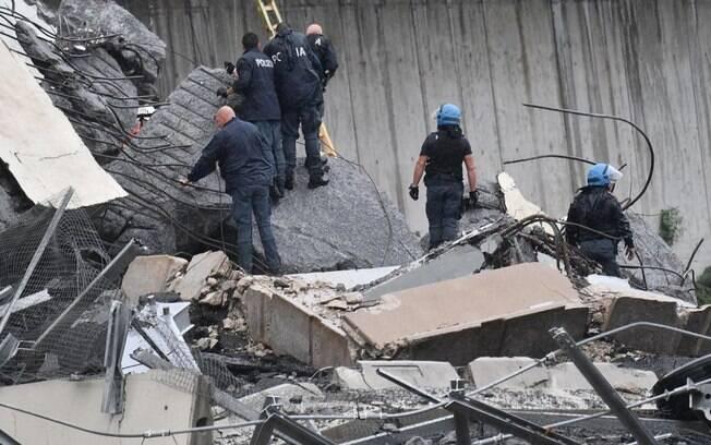 Mortos em desabamento de ponte em Gênova chegam a 39; número de desabrigados também subiu em balanço de hoje