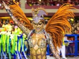 Carnaval.  A musa Natália Carvalho desfilou pela Unidos da Tijuca