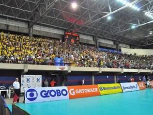 Ginásio Castelinho, em São Luís, ficou cheio na grande maioria dos jogos do Maranhão Vôlei-Cemar