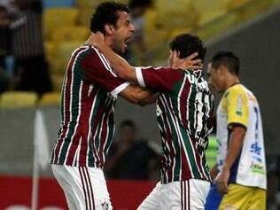 Fred e Conca celebram goleada implacável do Fluminense