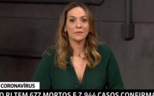 Maria Beltrão ficou emocionada com pessoas na fila da Caixa