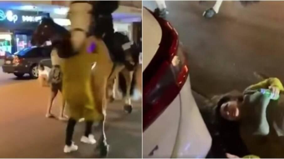 Mulher foi atropelada por cavalo da polícia, na Austrália