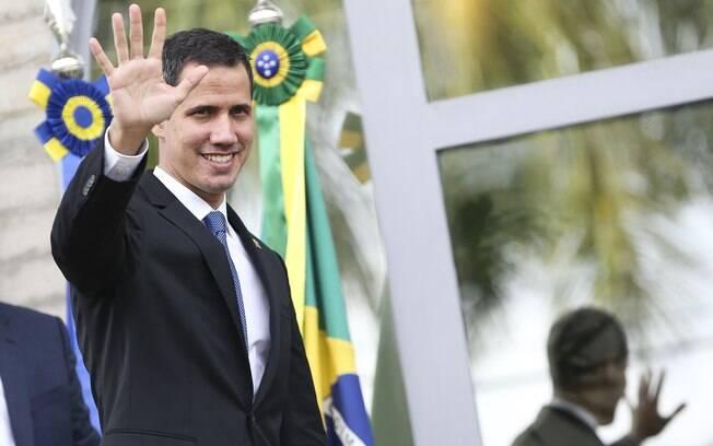 Autoproclamado presidente da Venezuela, Juan Guaidó veio ao Brasil em fevereiro fortalecer aliança anti-Maduro