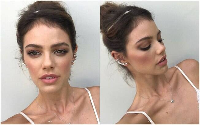 O responsável pela beleza de Laura Neiva para a cerimônia de casamento foi o maquiador Helder Rodrigues