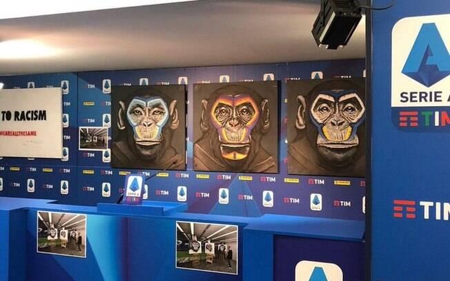 Campanha contra o racismo na Itália usou imagens de macacos