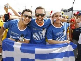 Nem a goleada sofrida em BH desanimou a torcida grega