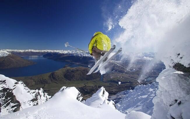 A melhor estação para aproveitar as pistas de esqui é o inverno