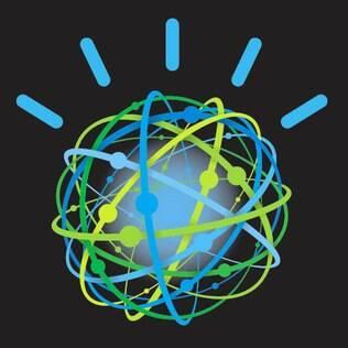 Watson é representado pela IBM por um globo com linhas e traços, um símbolo que lembra a representação de um átomo