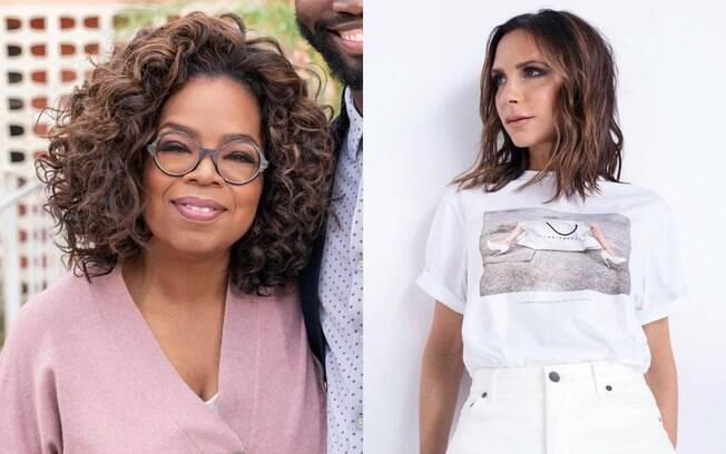Cortes de cabelo com as pontas assimétricas, como os de Oprah e Victoria Beckham, ajudam a deixar a aparência jovem