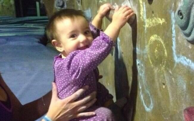 Bella começou a escalar aos oito meses de idade