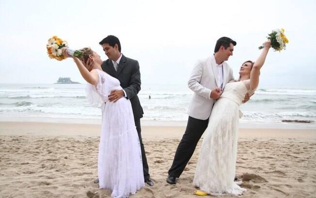 Ana Flávia dividiu o casamento com a irmã: questão de praticidade