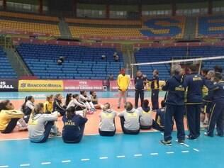 Brasileiras fizeram último treino no Ginásio do Ibirapuera, em São Paulo, palco das partidas da etapa brasileira