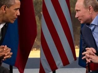 Presidente Barack Obama em encontro com o presidente russo Vladimir Putin