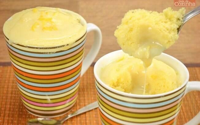 Receita de bolo cremoso de caneca com milho e coco