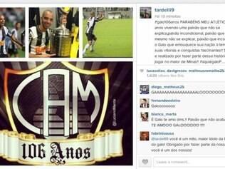 Diego Tardelli usou o Instagram para expressar seu amor pelo Atlético