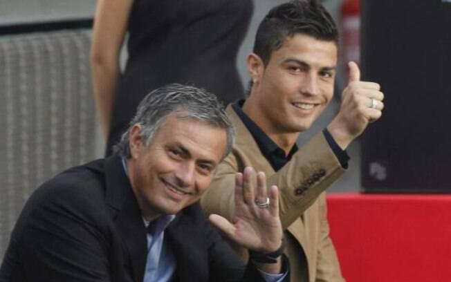José Mourinho e Cristiano Ronaldo trabalharam juntos no Manchester United e no Real Madrid