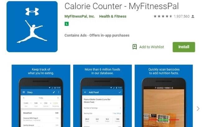 Aplicativos fitness: com o MyFitnessPal é possível fazer o controle da dieta de forma dinâmica e sem perder a motivação