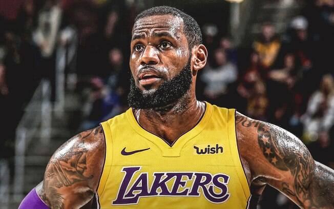LeBron James é jogador dos Los Angeles Lakers