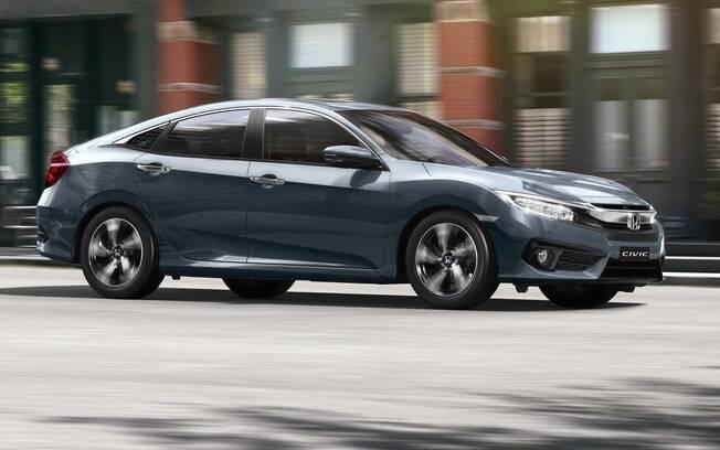Honda Civic 2019 é o segundo sedã médio mais vendido do Brasil, atrás apenas do Toyota Corolla