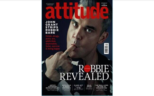 Robbie Williams na capa da revista Attitude
