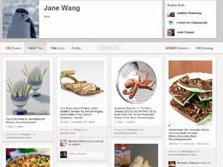 Novo perfil do Pinterest possui quatro colunas para